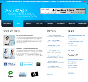 Ayuwage - Ptc para ganar dinero en internet