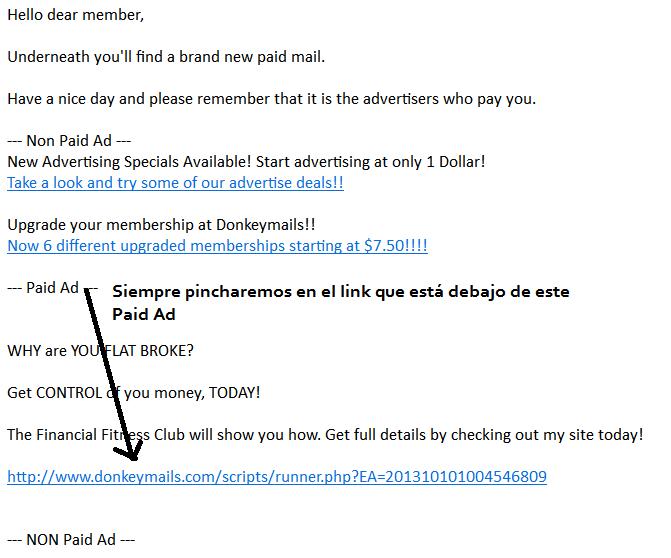 Ganar dinero leyendo emails con DonkeyMails