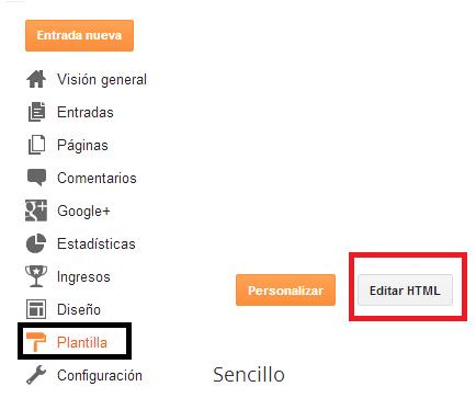 Como modificar el html de Blogger para tener más visitas
