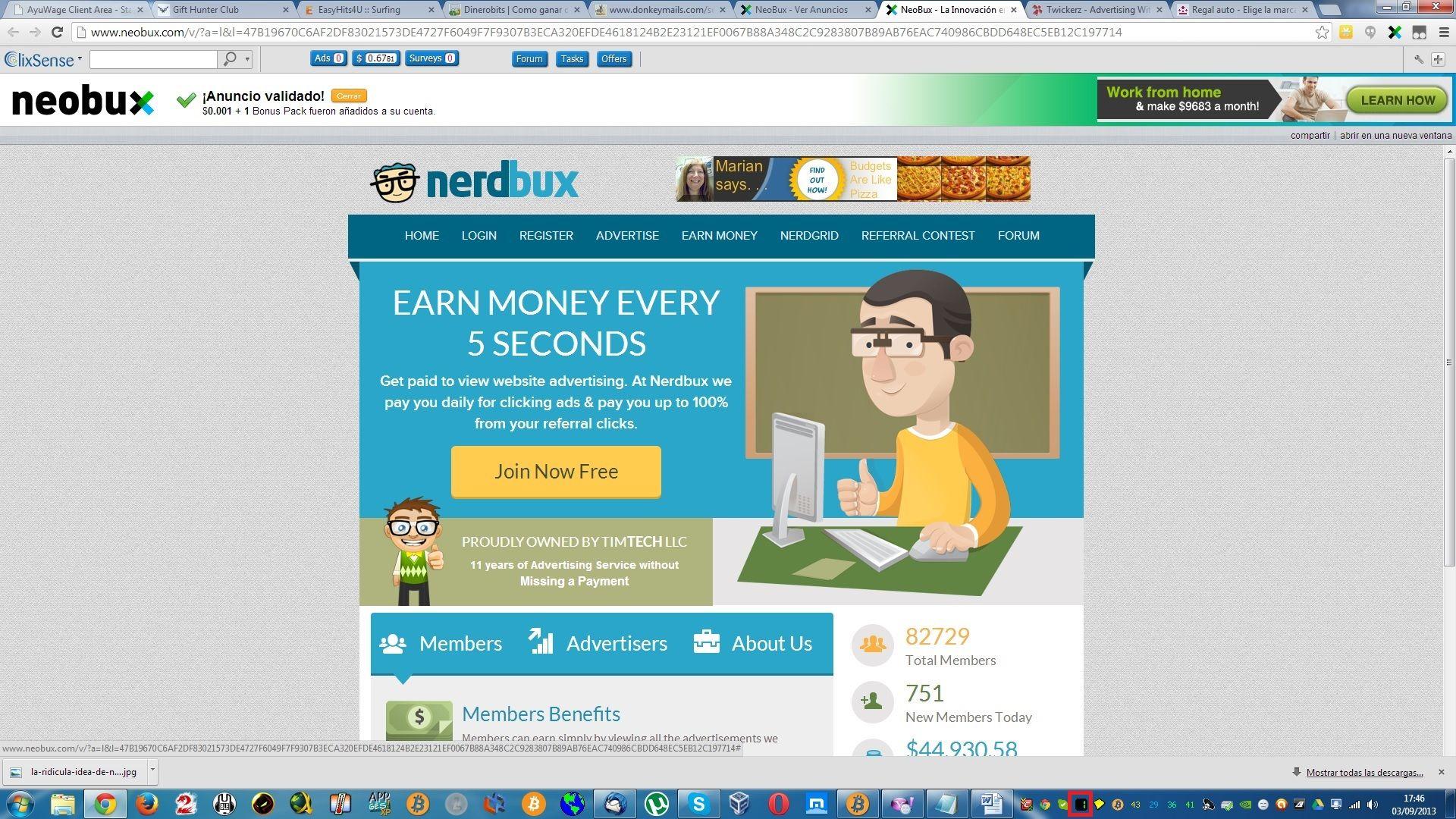 Ganar dinero en internet en menos tiempo escritorio 1