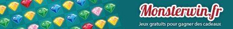 Monsterwin.fr - Jeux gratuits pour gagner des cadeaux