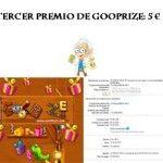 Tercer premio en GooPrize: Noveno cofre alcanzado