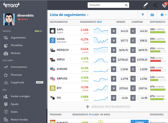 Nuevo webtrader de eToro