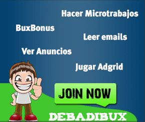 Ganar dinero por Internet en DebadiBux