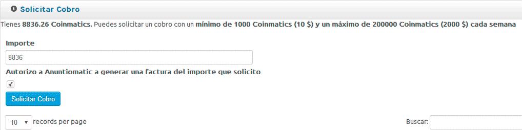 Segundo pago de AnuntioMatic