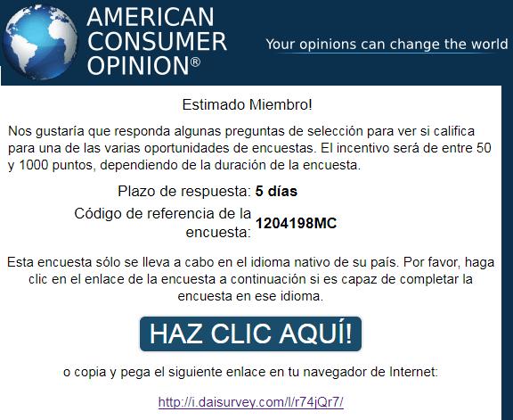 Encuesta de American Consumer Opinion