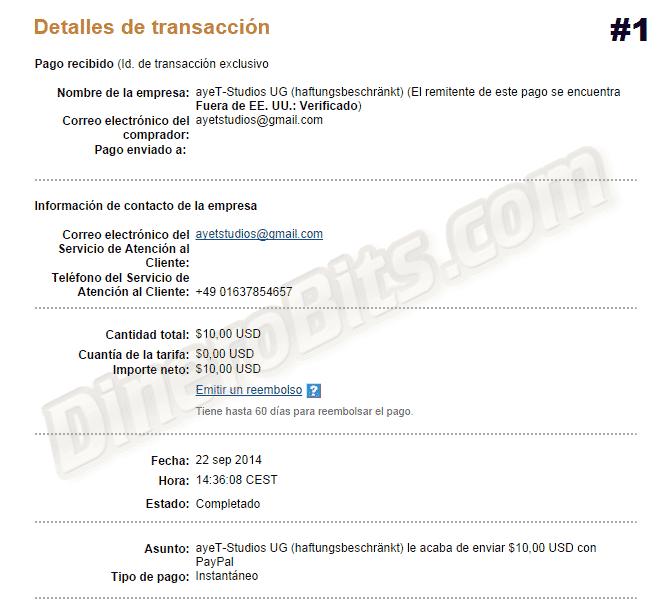 Primer pago de CashPirate