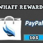 Primer pago de Whaff Rewards: 10$ por PayPal