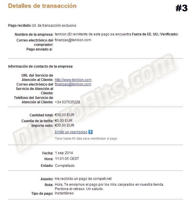 Tercer pago de Competi.net