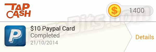 Tap Cash Rewards paga