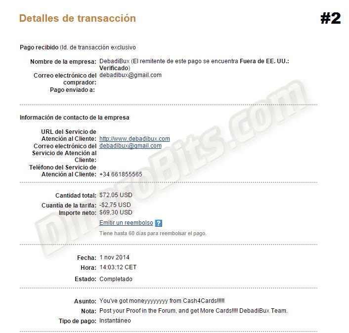 DineroBits News: Pagos recibidos de las diferentes páginas que tenemos en dinerobits.com
