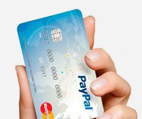 Tarjeta PayPal para recargar y retirar dinero