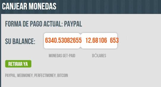 Pedir pago por PayPal en Get Paid