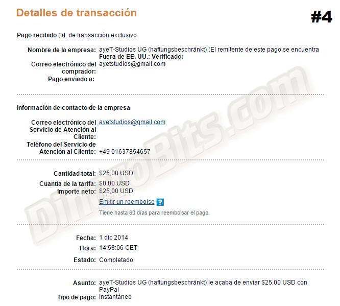 primeros pagos de diciembre 2014