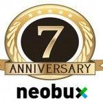 Séptimo aniversario de Neobux y 5º pago recibido: 230$