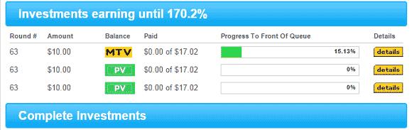 Inversiones en el plan 170 de My Traffic Value después del BAP SWAP