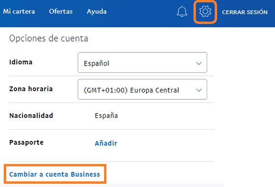 Cambiar cuenta PayPal Business a Personal