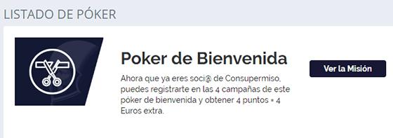 Poker de campañas