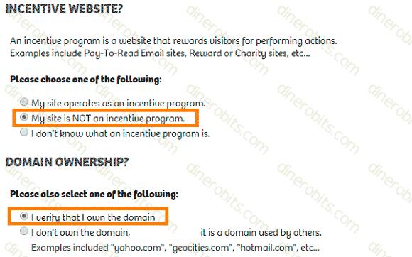 Quinto paso del registro en ShareASale
