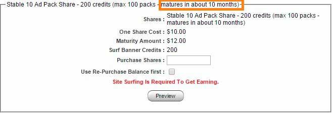 Paquete de shares del 20 por cien en Fort Ad Pays