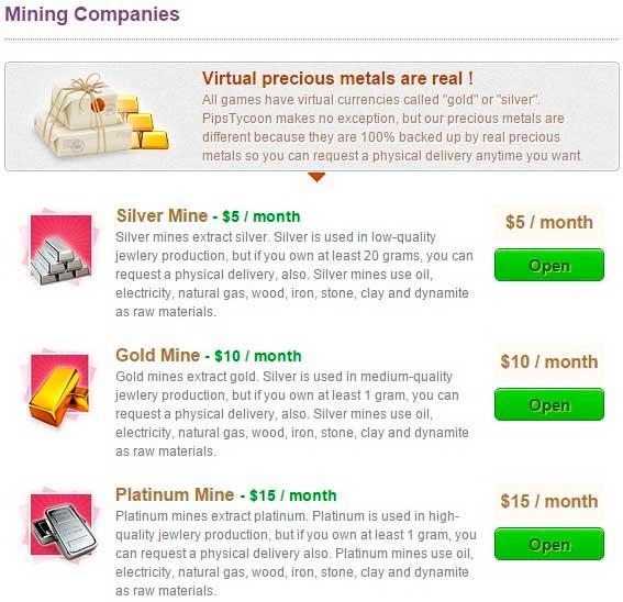Como minar materiales preciosos en PipsTycoon