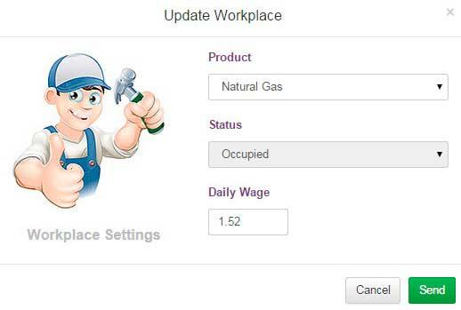 Contratar trabajadores en PipsTycoon