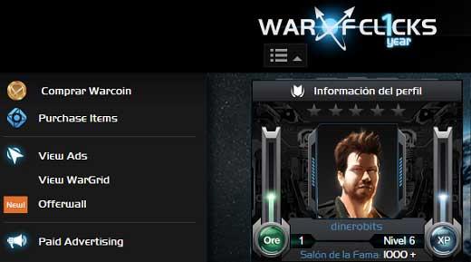 Avatar de nuestro personaje en War of Clicks