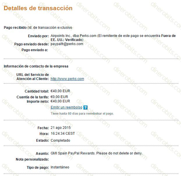solicitar un pago en GlobalTestMarket