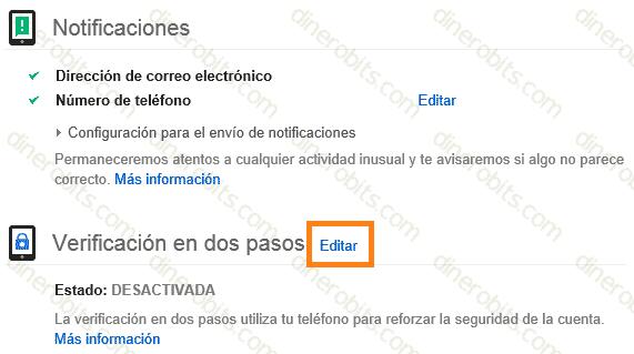 verificación en 2 pasos de Gmail