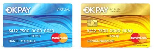 Dos tarjetas disponibles en OkPay