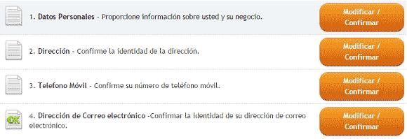 Pasos para verificar cuenta OkPay