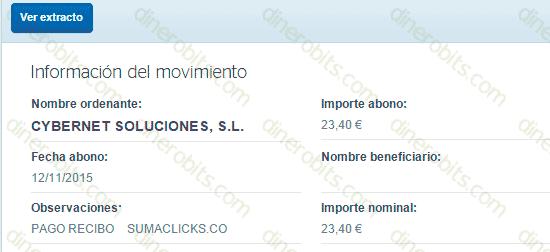 Primer pago de SumaClicks