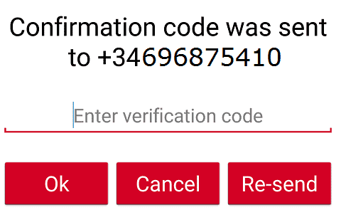 Confirmar código en GrabPoints