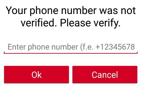 GrabPoints paga si confirmamos nuestro número de teléfono