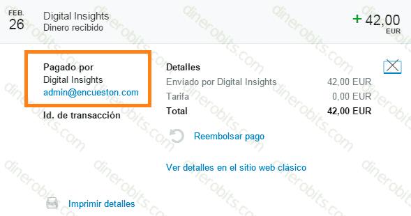 Segundo pago de Encuestón por PayPal