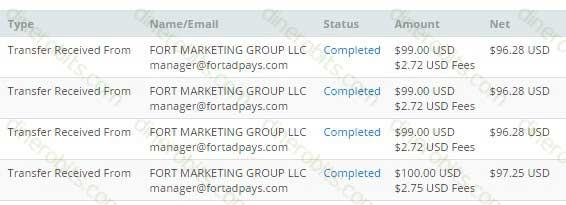 Cuatro pagos seguidos en Fort Ad Pays