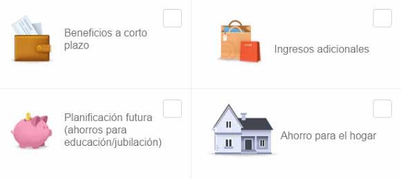 Objetivos en eToro