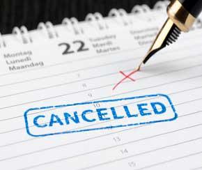 Retiros cancelados en FAP
