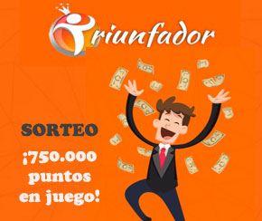 Sorteo de 750.000 puntos para Triunfador web