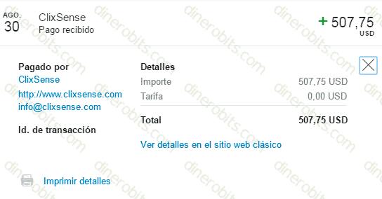 Nuevo pago de ClixSense en Agosto 2016