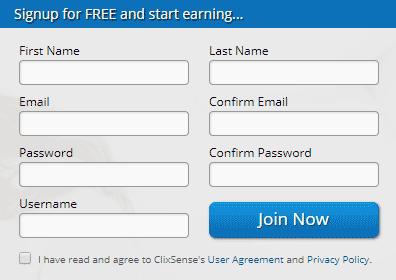 Registro gratuito en ClixSense