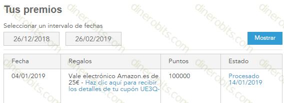 Premio de Toluna por Amazon