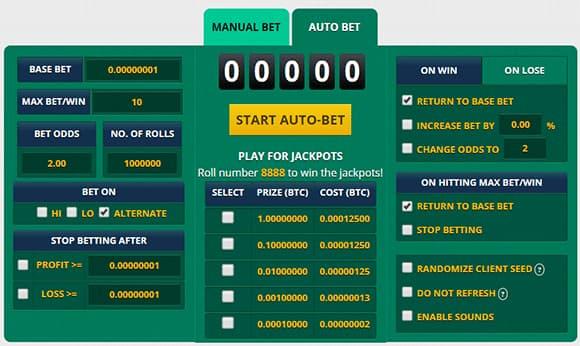 Auto Bet en Multiply BTC