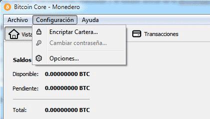 Cifrando el monedero de Bitcoin