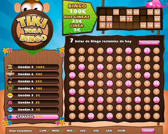 Funcionamiento del Tiki Toka Bingo