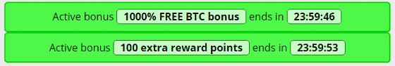 Dos bonus activados en FreeBitcoin