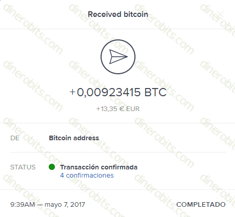 Primer pago recibido de BitGames