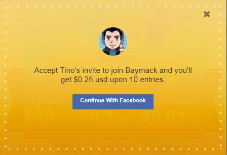 Invitación para Baymack