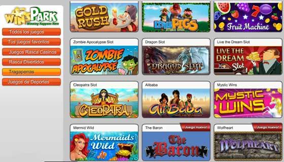 WinsPark juegos tragaperras y slots