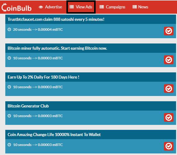Anuncios disponibles en CoinBulb